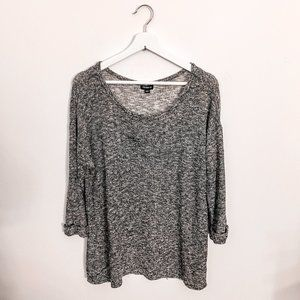 Torrid Heathered Gray Long Sleeve Top Size 0